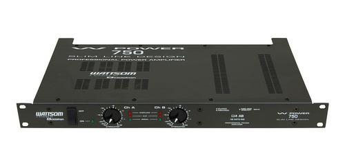 amplificador estéreo 2 canais 188w w power 750 - ciclotron