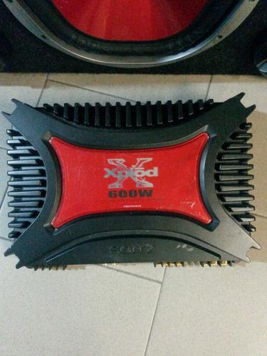 amplificador estéreo sony xplod 600w - 4/3/2 canales.
