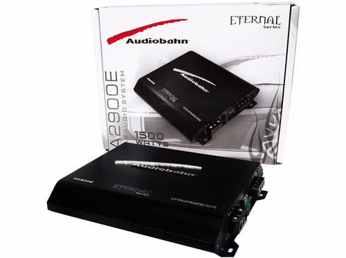 amplificador eternal audiobahn 1500w 2ch crossover integrado