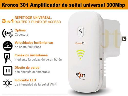 amplificador extensor de señal - router kronos 301  300mbps