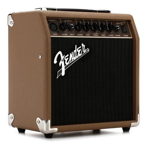 amplificador fender acoustisonic 15 voz guitarra canales