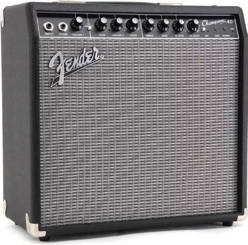 amplificador fender champion 40w para guitarra con efectos