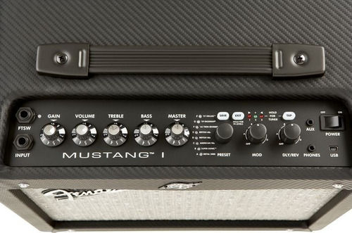 amplificador fender mustang i de guit. eléctrica.