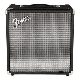 Amplificador Fender Rumble 25 25w Transistor Preto E Prata 220v