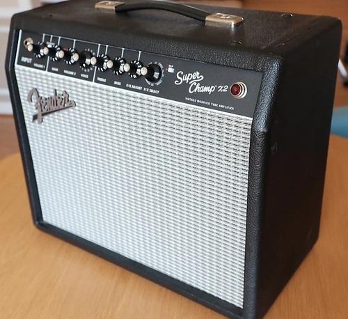 amplificador fender super champ x2 combo tubos 15w