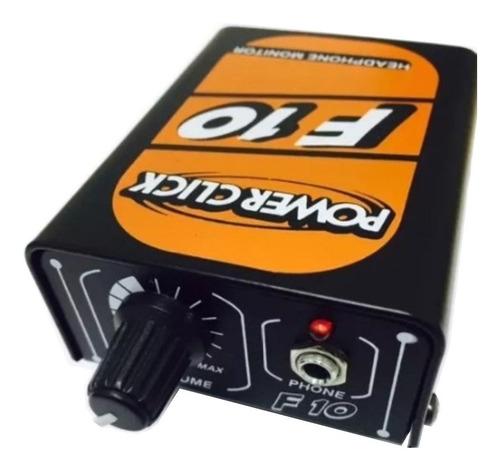 amplificador fone power click f10 retorno individual monitor