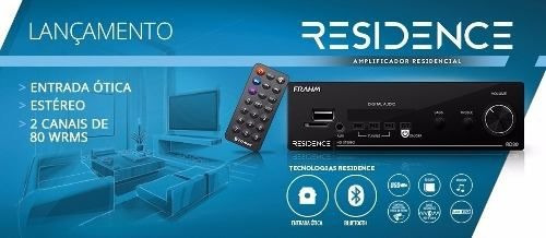 amplificador frahm rd80 residence optical stereo 160 wrms