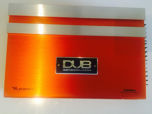 amplificador fuente dub by audiobahn 2400w 4ch para woofer