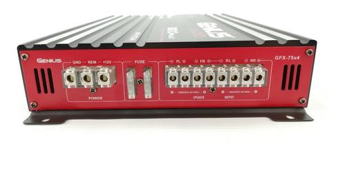 amplificador genius 1800 4 canales gfx 75x4