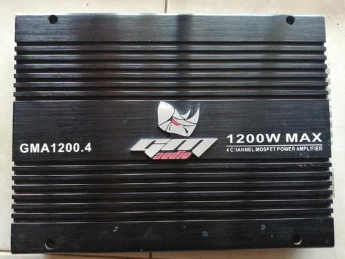 amplificador gm audio 1200.4, 1200w. 4 canales