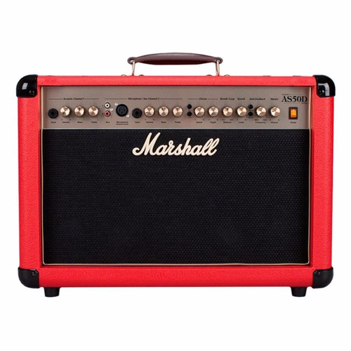 amplificador guitarra marshall as50d red + envio