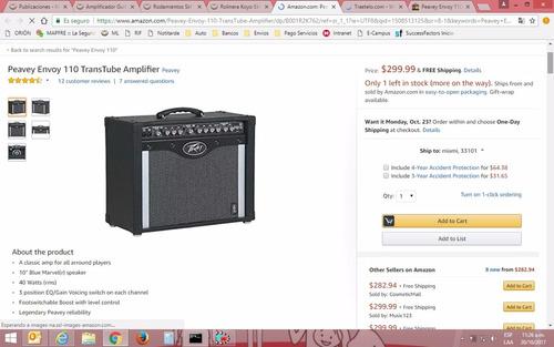 amplificador guitarra peavey envoy 110 de 75 watts new!