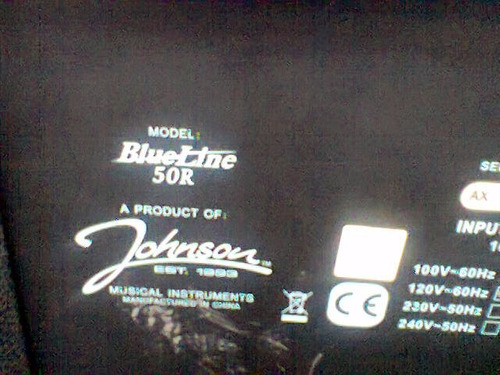 amplificador guitarrra johnson blueline 50w