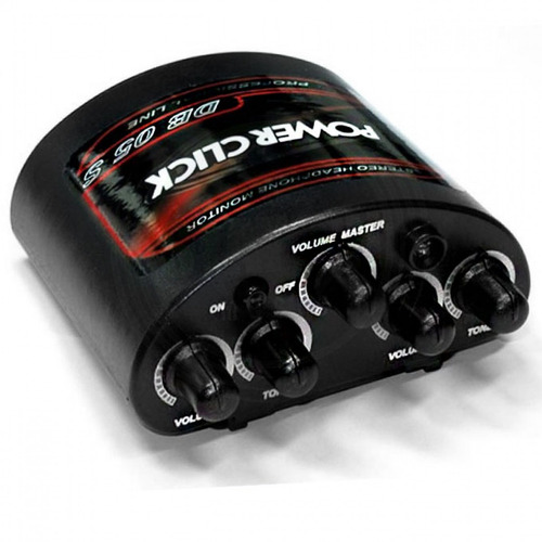 amplificador headphone power click db 05 stereo com fonte