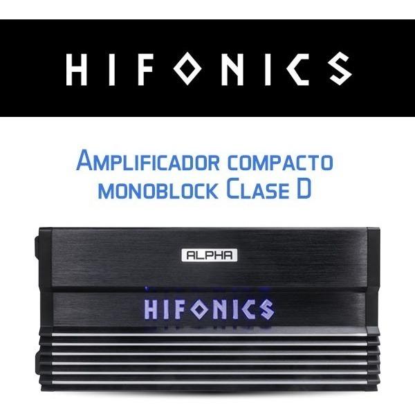 Amplificador Hifonics Alpha A1500 1d Clase D Monoblock 1500w