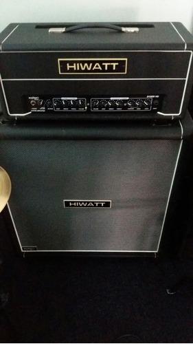 amplificador hiwatt g100r hd +caixa hiwatt 4x12  trocas
