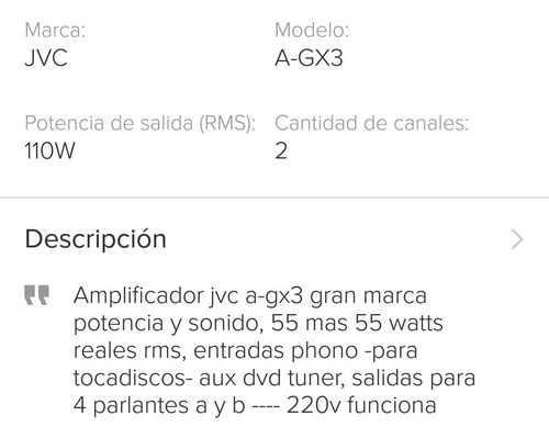 amplificador jvc mod a-gx3