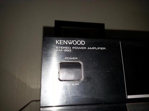 amplificador kenwood km-993 vintage, funcionando!