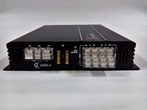 amplificador kombat 800w 4 canales s800-4