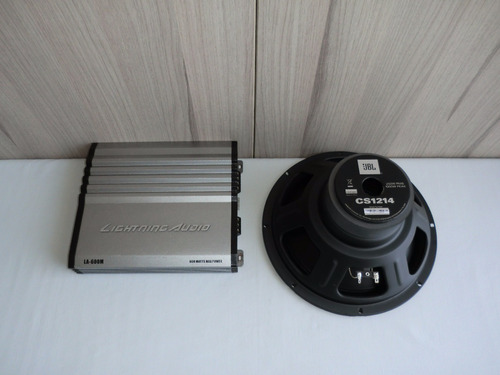 amplificador lightning audio la-600m y subwoofer jbl cs1214