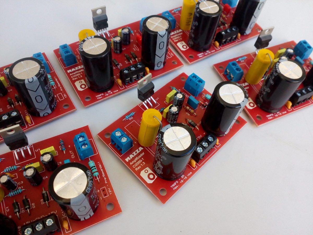 Amplificador Lm1875 Ou Tda2050 Placa + Componentes Hi-fi