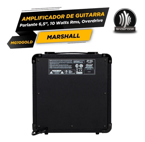 amplificador marshall mg10 gold