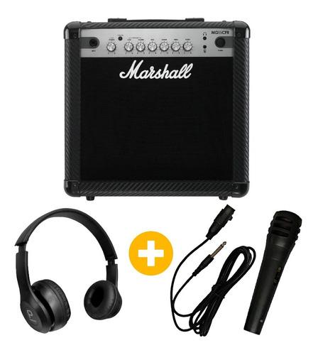 amplificador marshall mg15cfr + microfono y auricular regalo