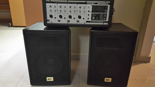 amplificador mezclador profesional klingt con baffles, 200w