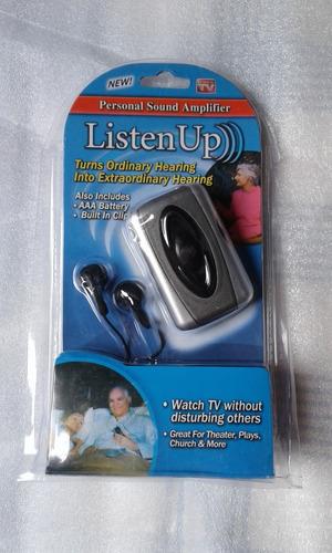 amplificador mini auditivo listen up + pilh ext a p entrega
