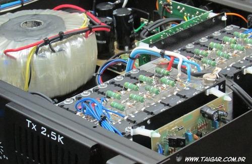 amplificador módulo classe ab taigar tx2,5k 2500w em 2 ohms