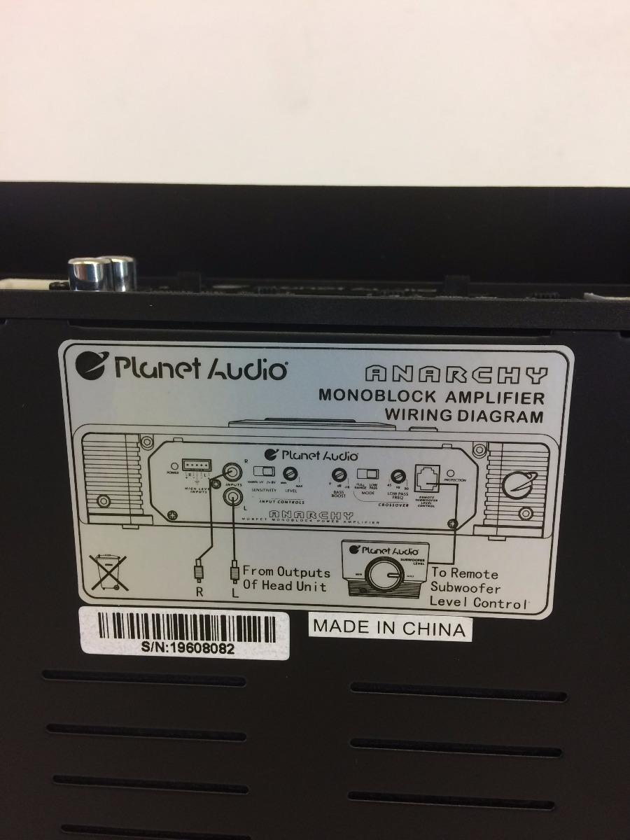 Amplificador Modulo Planet Audio Ac 2500 1m Novo C Nf R 28000 Amp Wiring Diagram Carregando Zoom