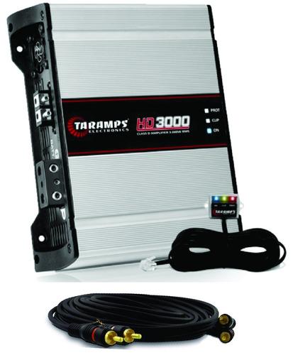 amplificador módulo taramps hd 3000 rms hd3000 1 ohm +brinde