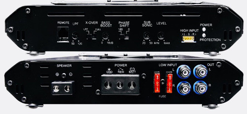 amplificador monoblock 1ch clase d 1ohm audiobahn