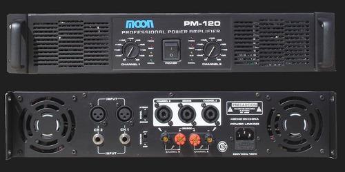 amplificador moon potencia pm120 700w peak envio gratis