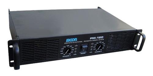 amplificador moon potencia pm120 puenteable para bafles