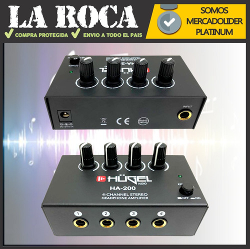 amplificador multiplicador para 4 auriculares volumen cuotas