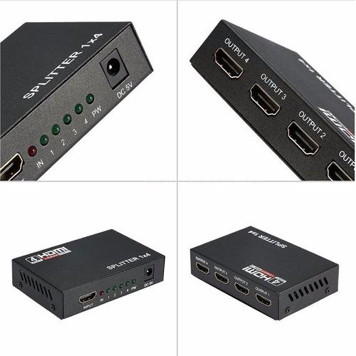 amplificador multiplicador splitter hdmi hd 1080p 3d 4salida