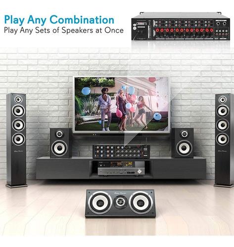 amplificador musica ambiental 12 zonas multizonas multiroom