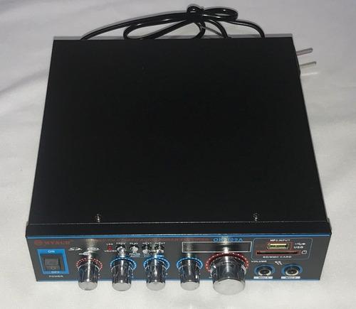 amplificador musica audio sonido ambiental bluetooth usb fm