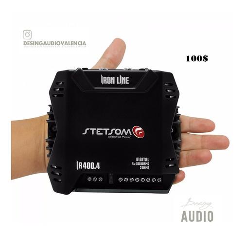 amplificador nano 400w rms / 4ch   stetsom modelo ir400.4