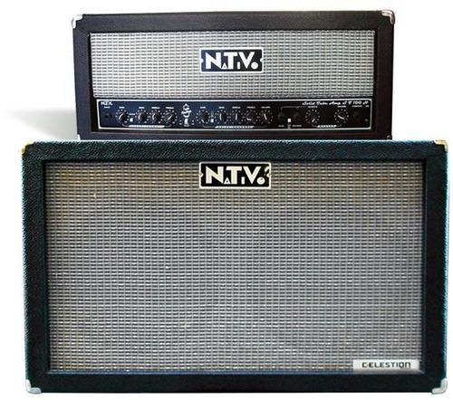 amplificador nativo st100hr, pre valvular,100w+caja celesti