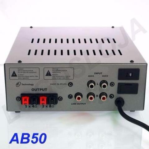 amplificador nca - modelo  ab50-r4 (aceito trocas)