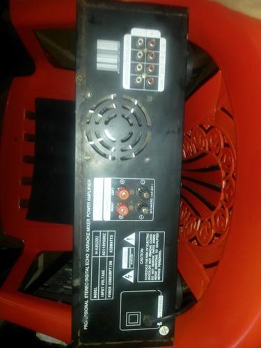 amplificador nippon dj 350watt con usb y mixer microfono 200