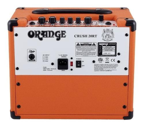 amplificador orange crush 20rt combo de 20 w. para guitarra