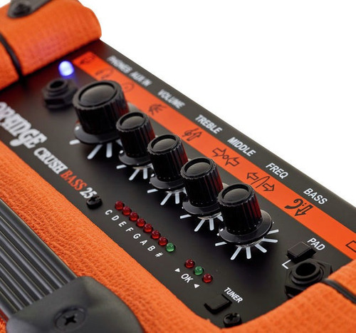 amplificador orange crush 25or 25w para bajo eléctrico
