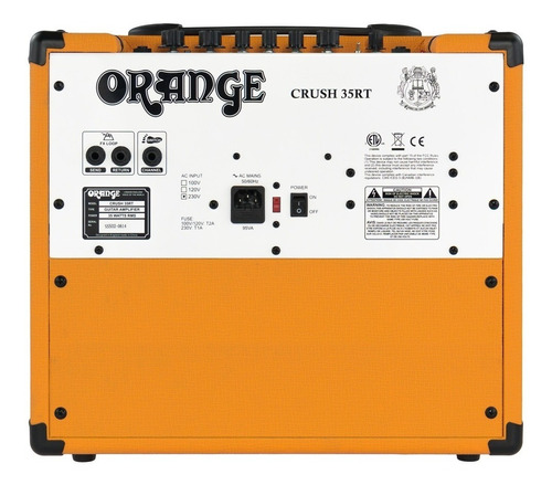 amplificador orange crush 35rt combo para guitarra 35 watts