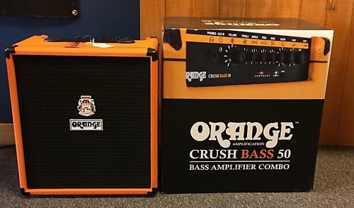 amplificador orange crush bass 50 combo para bajo - 50w