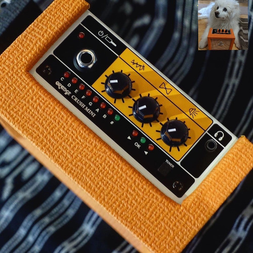 amplificador orange crush mini 3w guitarra electrica rocker