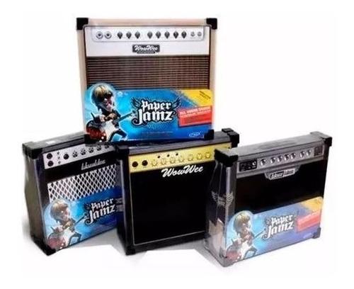 amplificador p/ guitarra tactil infantil paper jamz hasbro
