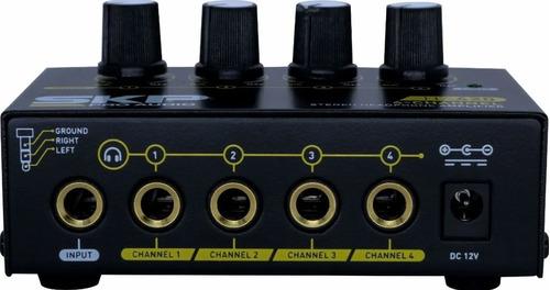 amplificador para fone de ouvido skp ha 420 4 canais stereo